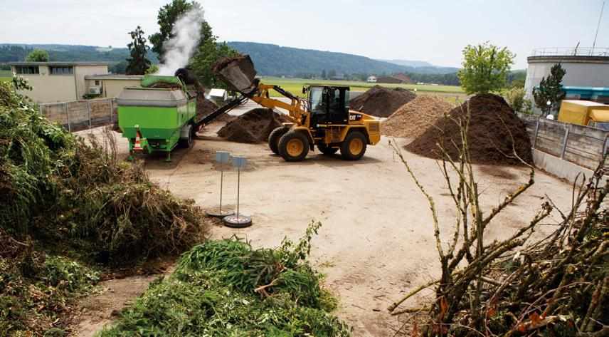 Operation of composting sites: The operation of composting sites is also part of Berom's service offering