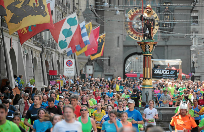 Runners: Nearly 30,000 runners participated in the Berne Grand Prix last Saturday. Bananas were handed out to all the runners at the end of the race.