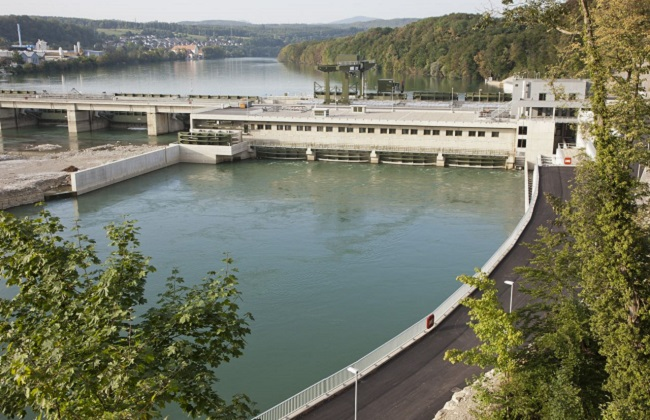 KW Rheinfelden: The newest built, it produces electricity since 2010 only (600 GWh a year) and is one ot the most modern ones in Europe
