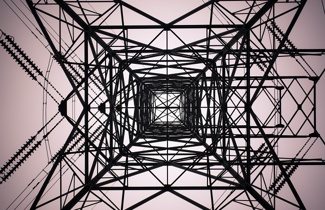 Power pole from below